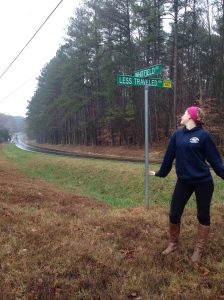 Somewhere In Chapel NC there is a road sign that follows my blog