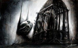 style-gothic-art-monster-a-bird-cage-the-web