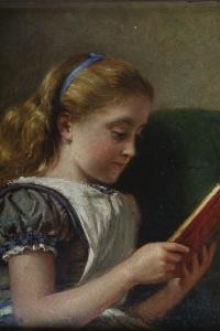 George_Goodwin_Kilburne_Young_girl_reading